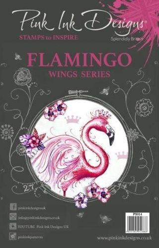 Pink Ink A5 Flamingo Clear Stamp Set